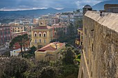 Italy, Campania region, Naples, Vomero district from Saint Elme fortress