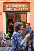 Italy, Emilia Romagna, Parma, shop in town centre