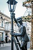 Denkmal in der Petrikauer Straße (Ulica Piotrkowska), in Lodz, Polen, Europa