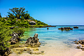 Bay with boat on Tanna, Vanuatu, South Pacific, Oceania