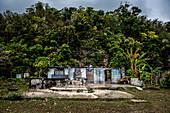 Cyclone damaged house, Efate, Vanuatu, South Pacific, Oceania