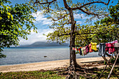 Clothesline on the beach on Efate, Vanuatu, South Pacific, Oceania