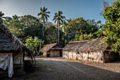 Traditional straw huts on Malekula, Vanuatu, South Pacific, Oceania