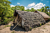 Traditional shelter during storm, Tanna, Vanuatu, South Pacific, Oceania