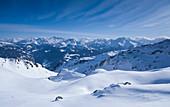 Winterlandschaft am Marchkopf in Hochfügen, Zillertaler Alpen, Winter in Tirol, Österreich