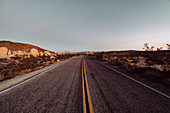 Road in Joshua Tree National Park, Los Angeles, California, United States, North America
