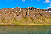 View from the sound of the Vestfirdir Peninsula, Iceland