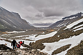Hike on Svalbard, Northern Sea, Norway