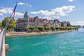 Rhein-Ufer und Seestraße in Konstanz, Deutschland