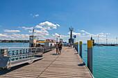 Konstanz Hafen mit Imperia Statue, Konstanz, Deutschland