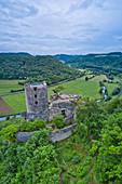 Ruine Neideck im Wiesenttal, Naturpark Fränkische Schweiz, Frankenjura, Forchheim, Oberfranken, Franken, Bayern, Deutschland, Europa
