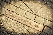 Berlin Wall 1961-1989, memorial sign, Bernauer Strasse, Prenzlauer Berg, Berlin
