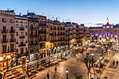 Placa de la Font, Tarragona, Catalonia, Spain