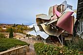 The City of Wine, Marques de Riscal winery, building by Frank O. Gehry, Elciego, Alava, Rioja Alavesa, Basque Country, Spain, Europe