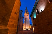 Bell Tower, Old Hospital, Parador de Turismo, Square of the Saint, Santo Domingo Cathedral, Santo Domingo de la Calzada, La Rioja, Spain, Europe, The Way of St. James