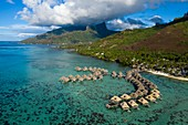 Tourist Resort with Water Bungalows, Moorea, French Polynesia