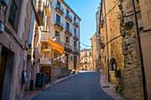Street. Sepulveda, Segovia province, Castilla Leon, Spain.
