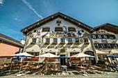 Hotel und Gasthof Fraundorfer, Garmisch-Partenkirchen, Oberbayern, Bayern, Deutschland