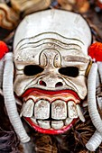 A Mask Used In A Traditional Balinese Barong and Kris Dance Show, Batabulan, Bali, Indonesia.
