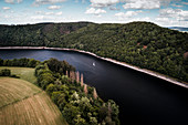 The Eder near Hünselburg, Asel, Vöhl, Waldeck-Frankenberg, Hesse, Germany, Europe