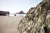 Rocks on Big Sur Beach, California, USA.