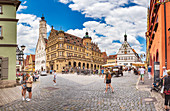 Market square of Rothenburg ob der Tauber, Bavaria, Germany