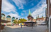 Markt in Lübeck, Schleswig-Holstein, Deutschland