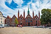 Koberg und Heiligen-Geist-Hospital in Lübeck, Schleswig-Holstein, Deutschland