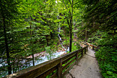 First section directly after the access at the turnstile of the Wimbachklamm, Berchtesgadener Land, Bavaria, Germany