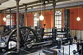 Schwungräder des Wasserwerks am Hochablass, Augsburg, Schwaben, Bayern, Deutschland