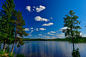 A large, lonely lake near Lycksele, Norrbotten County, Sweden