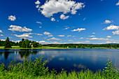 A wonderful summer day by a lake in Sweden, near Järvsö, Västernorrland, Sweden