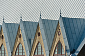 View of the roof of the Fish Church in Gothenburg, Västra Götalands Län, Sweden