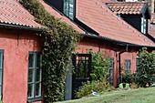 Old houses in Varberg Fortress, Halland, Sweden