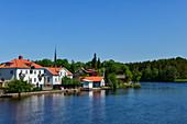An idyllic small town by the lake, near Svårta, Örebro Province, Sweden
