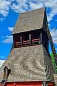 An old wooden tower with a shingle roof, Kopparberg, Örebro Province, Sweden