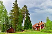 Typical Swedish meeting house in Gänsen, Örebro Province, Sweden