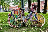 Well-heeled bike in the Langestraat Quarter, Bruges, Belgium