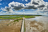 View of the dike foreland, Dorum-Neufeld, Lower Saxony, Germany