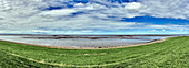 Panoramic view of the North Sea at Dorum, Lower Saxony, Germany