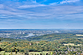 View from the Mount of Olives over the Siebengebirge to Bonn and Cologne, Siebengebirge, Germany