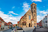 Frauenplatz and Upper Parish in Bamberg, Bavaria, Germany