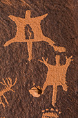 Petroglyphs at Newspaper Rock in Indian Creek National Monument, formerly part of Bears Ears National Monument, southern Utah, USA