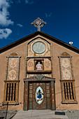 The chapel of Santo Nino de Atocha at El Santuario de Chimayo in the small community of El Potrero just outside of Chimayo, New Mexico, USA.