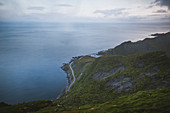 Norway, Senja, Scenic view of road along coast