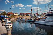 Hafen von Timmendorf auf Insel Poel bei Wismar, Mecklenburg-Vorpommern, Deutschland