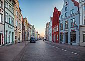 Dankwartstraße in Wismar, Mecklenburg-Vorpommern, Deutschland