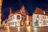 Ratsapotheke am Markt in Wismar, Mecklenburg-Vorpommern, Deutschland