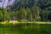 Idyllic location of the Gosaulacke, Middle Lake of the Gosauseen.