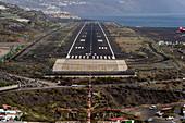 Approaching runway 01, La Palma Airport (GCLA / SPC), Canary Islands
